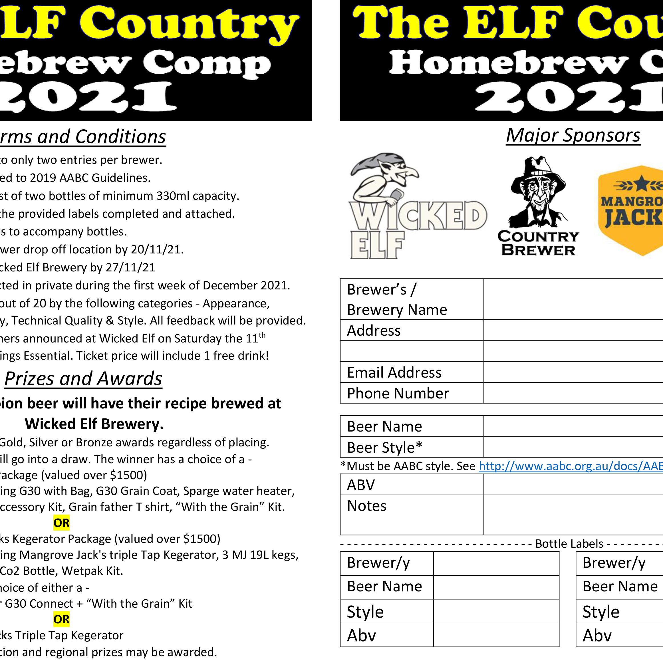 Elf Country Comp - Entry Form UPDATE